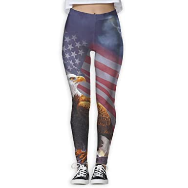 ad34ce46250e2e American Eagle Printing Compression Leggings Pants Tights for Women S-XL at Amazon  Women's Clothing store: