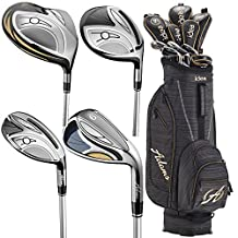 Adams Golf Women's New Idea Complete Set, Left Hand, Black Gold