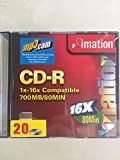 Imation CD-R 1X-16X Compatible 700MB/80Min 20 Pack