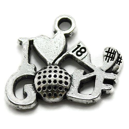 20 Love Golf Charms silver tone