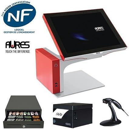 Pack caja registradora táctil Aures Sango D2550, software todos ...