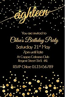 Pack of 10 18th birthday party invitations amazon kitchen personalised 18th birthday party invitations x10 filmwisefo