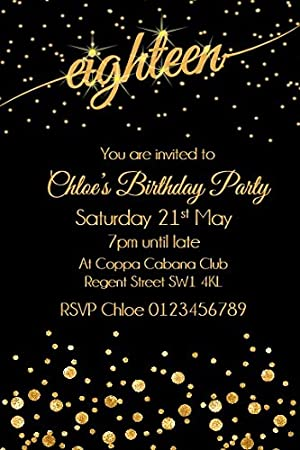 Personalised 18th Birthday Party Invitations x10 Amazoncouk Toys
