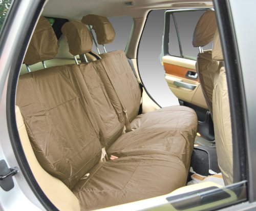 Inka Fully Tailored Waterproof Rear 60/40 Non Load Through Centre Armrest Seat Covers 2013 - 2016 Heavy Duty Right & Left Hand Drive Beige - INK-WSC-7125: