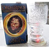 "Lord of The Rings ""The Fellowship of The Ring"" Strider The Ranger Glass Goblet"