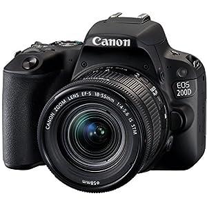 Canon EOS 200D Fotocamera Digitale Reflex con Obiettivo EF-S 18-55mm f/4-5.6 IS STM, Nero 1 spesavip