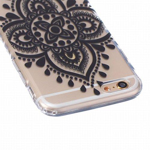 Pour iphone 6 6S (4.7inch) Coque Etui, Ougger Mode r¨¦tro Painted TPU Caoutchouc Silicone Transparent Protecteur Bumper l¨¦ger Skin Housse