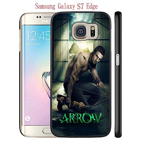 Samsung Galaxy S7 Edge Case, The TV Series Arrow 10 Drop Protection Never Fade Anti Slip Scratchproof Black Hard Plastic Case