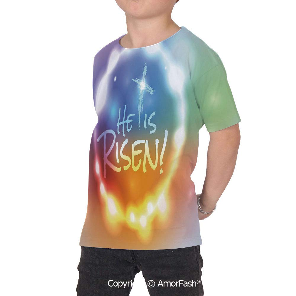 Colorful Girl Regular-Fit Short-Sleeve Shirt,Personality Pattern,He Has Risen Th