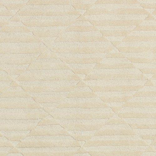 Rivet Geometric Criss-Cross Woven Wool Area Rug, 8' x 10', Cream by Rivet (Image #1)