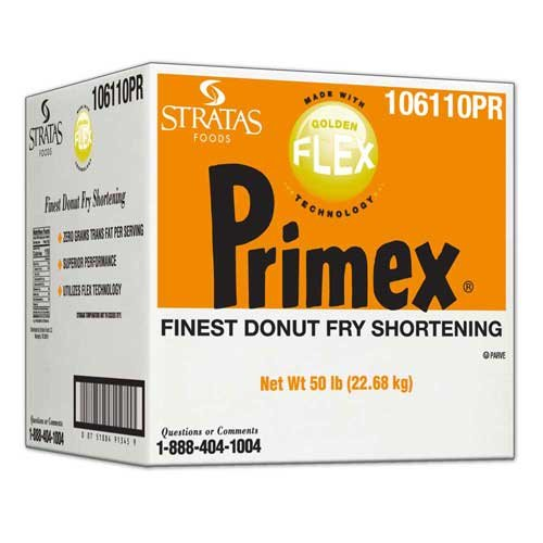 Primex Golden Flex Donut Fry Shortening, 50 Pound -- 1 each.