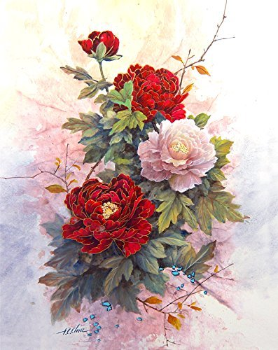 Flowers - print of Watercolor Painting - Nature, Flowers, Fruits, Peaceful Gifts, Gift for Ladies ()