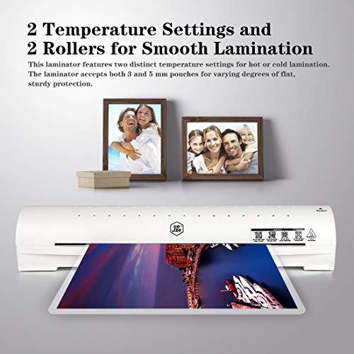 Thermal Laminator Machine for A3/A4/A6, Laminating Machine with Two Roller System, New Upgrade,Faster Warm-up, Quicker Laminating, for Home and Office Use, with 20 Pouches (A3 laminator)
