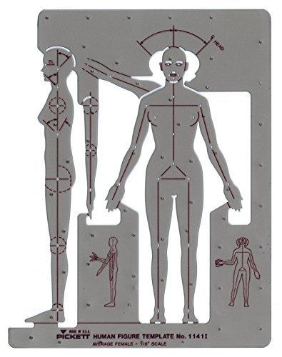 Pickett Female Human Figure Template (1141I)