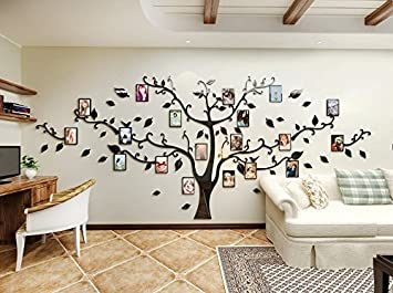 Alicemall Sticker Mural Arbre Photo Stickers Salon Décoration De