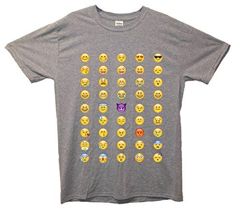 Minamo IPhone Smileys T-Shirt Medium (38-40 inches) Grey