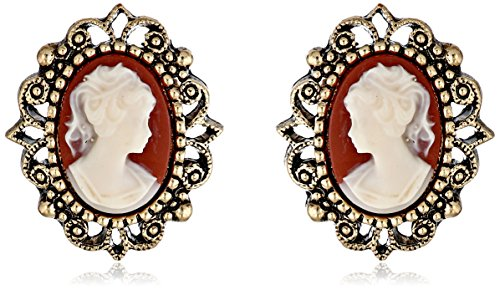 1928 Jewelry Vintage-Inspired Escapade Button (Vintage Button Earrings)