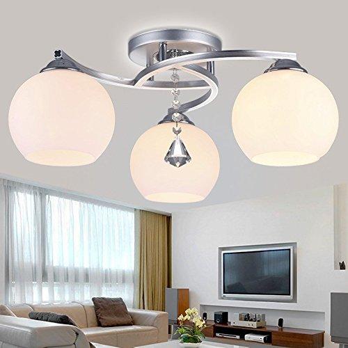 BL Modern European style Led ceiling lamp lights the room master bedroom lamp small living room lamp is minimalist restaurant three warm 500/600*220/280mm , 3 head,Ceiling Lamp (110-120V)
