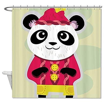 JKYUKO Cute Panda Shower Curtain Polyester Waterproof 60quot