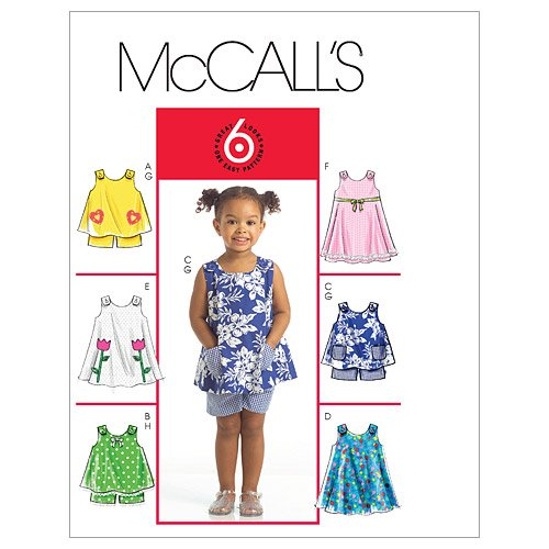 McCall's Patterns M5416 Toddlers' Tops, Dresses and Shorts -