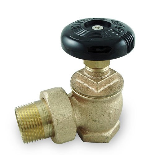 Plumbers Overstock UV35105 Bronze Steam Radiator Angle Valve, 1