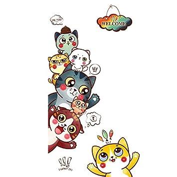 HCCY Puerta 猫 encantadora habitación niños cartoon carteles ...