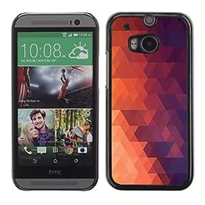 EJOY---Cubierta de la caja de protección la piel dura para el / HTC One M8 / --Geometría Red Triangle