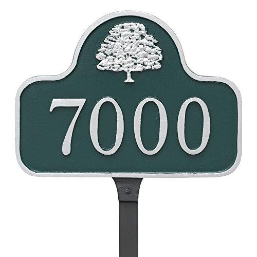 [해외]몬 태규 금속 8.75 x 12 오크 트리 아치 잔디밭 스테이크가있는 주소 표지판/Montague Metal 8.75  x 12  Oak Tree Arch Address Sign Plaque with Lawn Stake