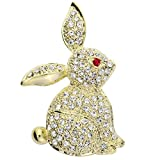 Szxc Jewelry Easter Bunny Rabbit Custom Brooch Pin For Women Teen Girls (gold)