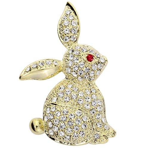 1fa9348b9 Szxc Jewelry Easter Bunny Rabbit Custom Brooch Pin For Women Teen Girls  (gold) by