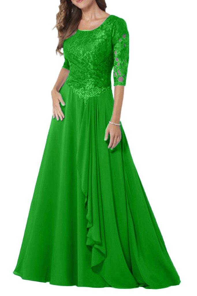 (ウィーン ブライド) Vienna Bride 披露宴用母親ドレス ロングドレス 結婚式母親用ドレス 半袖 レース フォーマルイブニングパーティー 8色 ウエディングパーティー B01MRZDG65 15 リンゴ緑 リンゴ緑 15