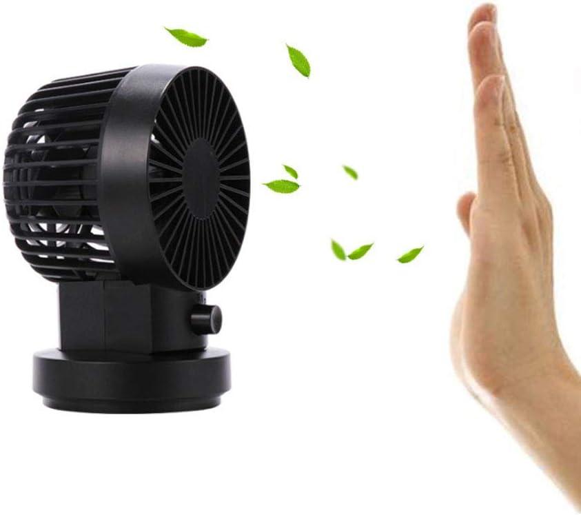 SELCNG Mini Fan Portable Shake Head Mini USB Mute Double Leaf Shaking Head Fan-Black