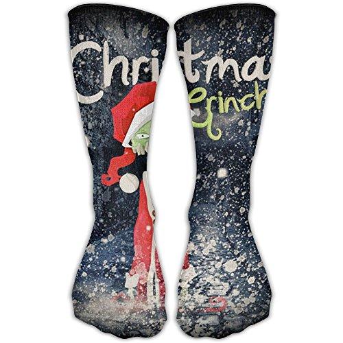 Christmas Santa Grinch Classics Personalized Socks Sport Athletic Stockings 30cm Long Sock For Men Women ()