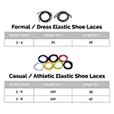Elastic No Tie Shoelaces for Adults and Children (2-Pack)