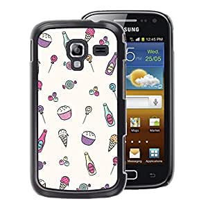 A-type Arte & diseño plástico duro Fundas Cover Cubre Hard Case Cover para Samsung Galaxy Ace 2 (Sweet Sweets Drawing Candy)