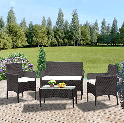 Panana Rattan Patio 4 Piece Furniture
