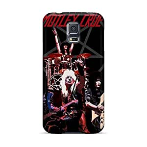 Shock-Absorbing Hard Phone Cover For Samsung Galaxy S5 (OJJ10089cboU) Custom Trendy Motley Crue Band Pictures