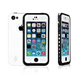Weksi®Iphone 5c Cases, Weksi®Dust Proof, Snow Proof, Shock Proof, Waterproof Cases for Iphone 5/5c with Rugged Protection Iphone 5 Cover(White)