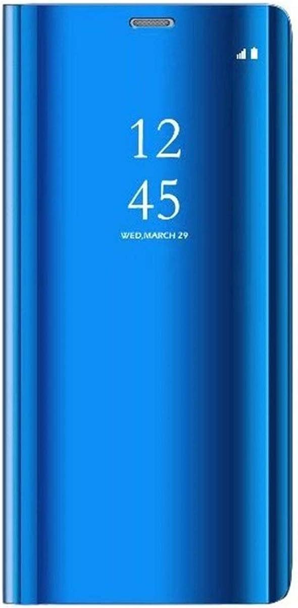 Caler ® Funda Reemplazo para Samsung Galaxy S6 Edge Plus Funda,Flip Tapa Libro Carcasa Modelo Fecha Espejo Brillante tirón del Duro Case Espejo Soporte Plegable Reflectante