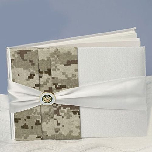 Ivy Lane Design Jamie Lynn Military Wedding Collection Army Camouflage Guest Book