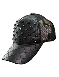Gebaozhen Men/Women's Rock Spiked Studded Baseball Hat, Black
