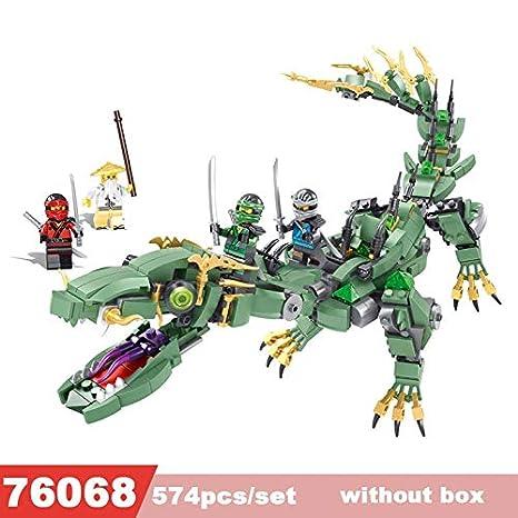 Amazon.com: Ninjago Set Building Blocks Green Ninja Mech ...
