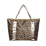 Bienen Diaper Bags Fashion Nappy Bag for Mom and Baby Leopard Print Portable Mama Bag Travel Totes