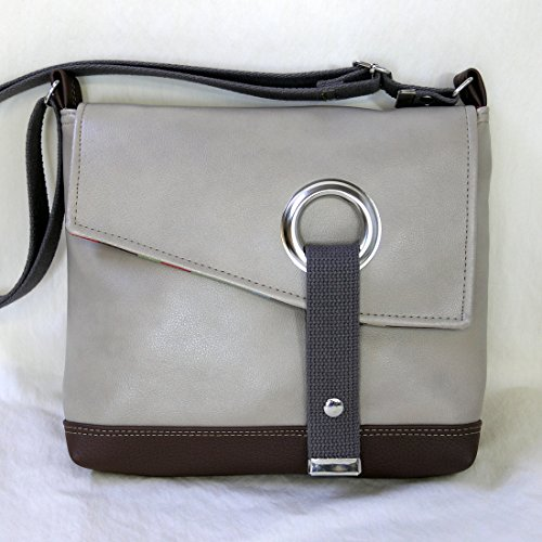 Stella Crossbody Messenger Bag, Faux Leather Messenger in Coffee Brown by Zaum