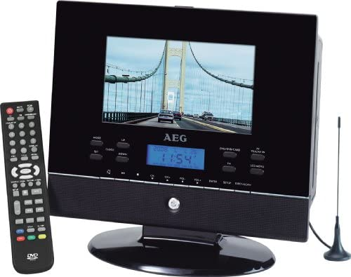 AEG CTV 4889 - Televisor portátil (LCD, 17,8 cm (7 pulgadas), reproductor de DVD, sintonizador DVB, sintonizador de FM/AM, ranuras para tarjetas MMC/SD/MS, conector para auriculares de 3,5 mm, USB 2.0), color