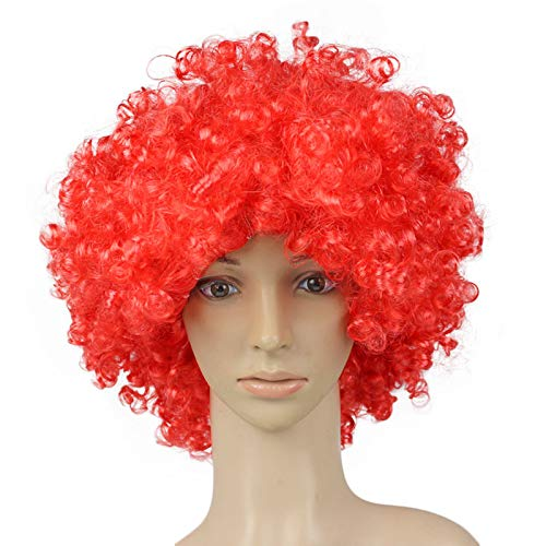 JYS Clown Wig Xmas Ideas with Foam Clown Nose Crazy Wigs for April Fools Day Jokes Birthday Party│Fancy Dress Party Wigs, Afro Wig, Halloween Wig, Christmas Wig, Masquerade Wig -
