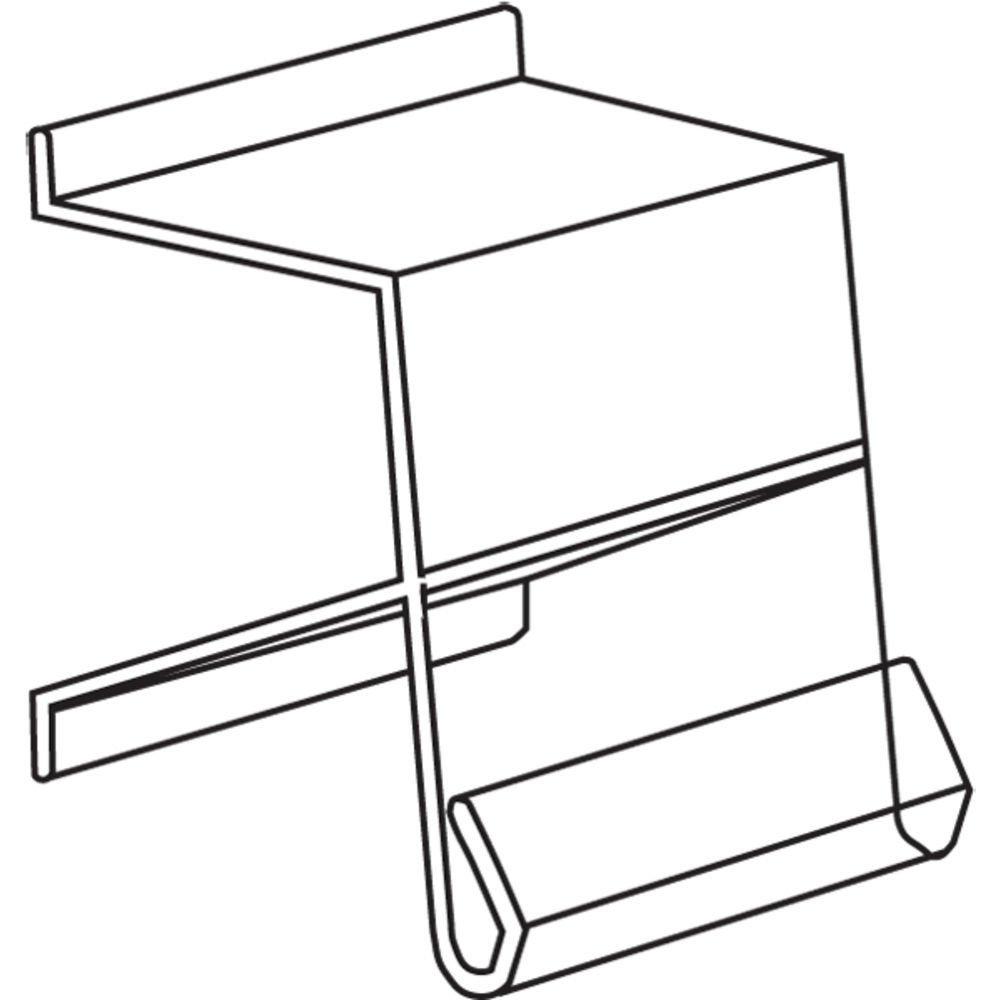 Shelf Molding Sign Clip, Clear Plastic - 1 1/4 L, 25 per Bag by Hubert