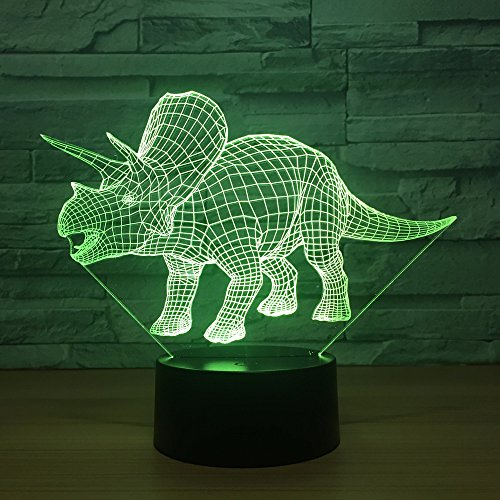 Triangle Dragon 3D Dinosaur Lamp Led Lovely 7 Color Change 3D Lamp Ambient Lamp Gift Lovely 7 Color Change 3D Lamp