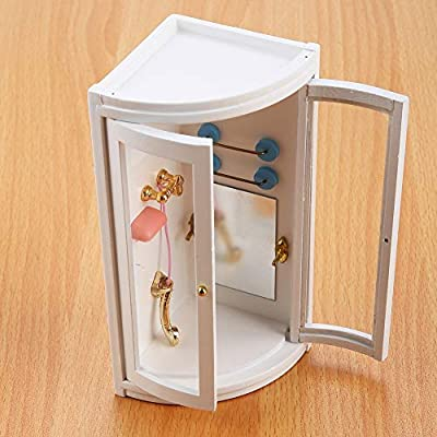 Zerodis 1:12 Mini Dollhouse Shower Bathroom Wooden Miniature Shower Room Simulation Bathrooms Dollhouses Furniture Landscape for Kids Educational Pretend Play Toys Gift: Toys & Games