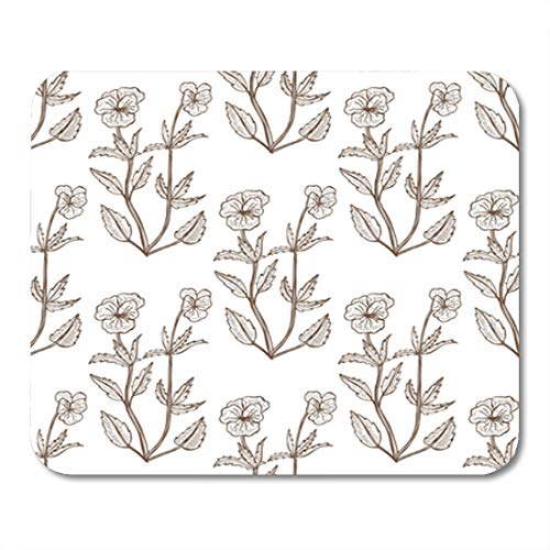 (Semtomn Gaming Mouse Pad Antiseptic Viola Tricolor Pattern Graphic for of Medicinal Plant 9.5